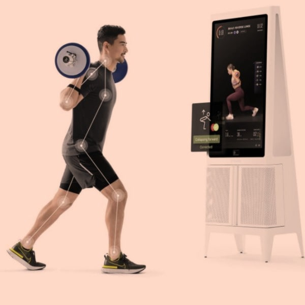 tempo studio home gym form feedback from HD screen