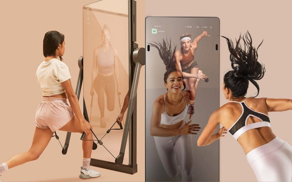 mirror and A.I. technology for form correction
