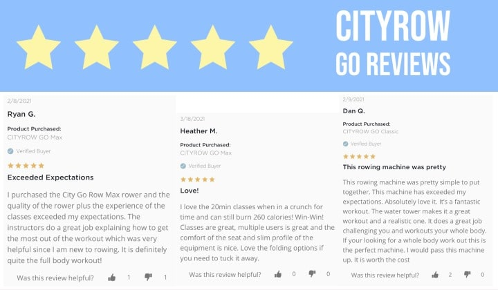 cityrow go reviews by 3 happy customers