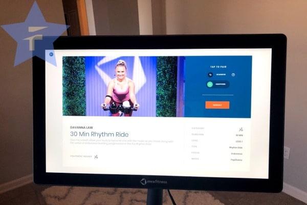 30 minute rhythm ride on big hd screen