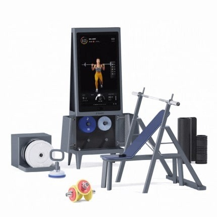 pro bundle real weights with squat rack and bench