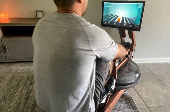 alex (FTS) races on the ergatta smart rower